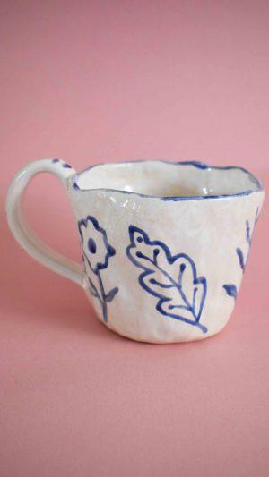 Mug Renacer Blue Flora